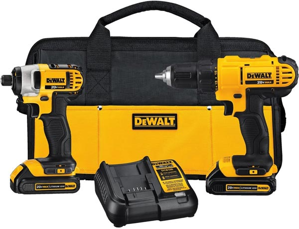 Dewalt Drill and Driver Set - must-have tools for a DIY van conversion - Sprinter Campervans