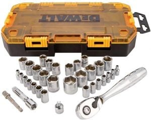 Dewalt Socket Set must have tools for a DIY van conversion Sprinter Campervans